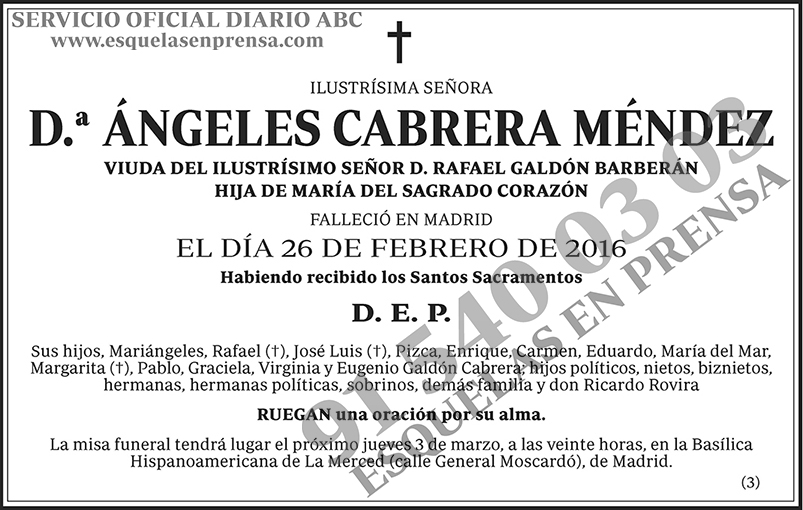 Ángeles Cabrera Méndez